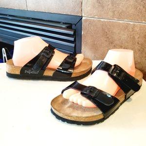 BIRKENSTOCK Papillio Double Strap Patent Sandals